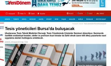 Tesis yöneticileri Bursa'da buluşacak